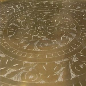 Vintage Accents - Vintage Etched Brass Plate / Tray